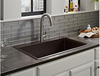 Kohler kitchen sinks by Lakeside Kitchens
